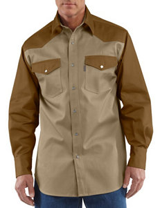 Carhartt® 2-Toned Ironwood Twill Work Shirt