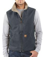 Carhartt® Men's Big & Tall Sandstone Solid Color Sherpa Lined Vest
