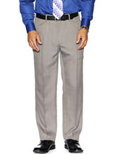 Haggar Solid Color Plain Front Dress Pants