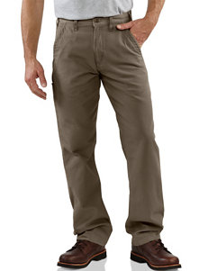 Carhartt Canvas Khaki Relaxed Fit Straight Leg Pants