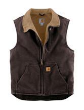 Carhartt® Sandstone Solid Color Sherpa Lined Vest