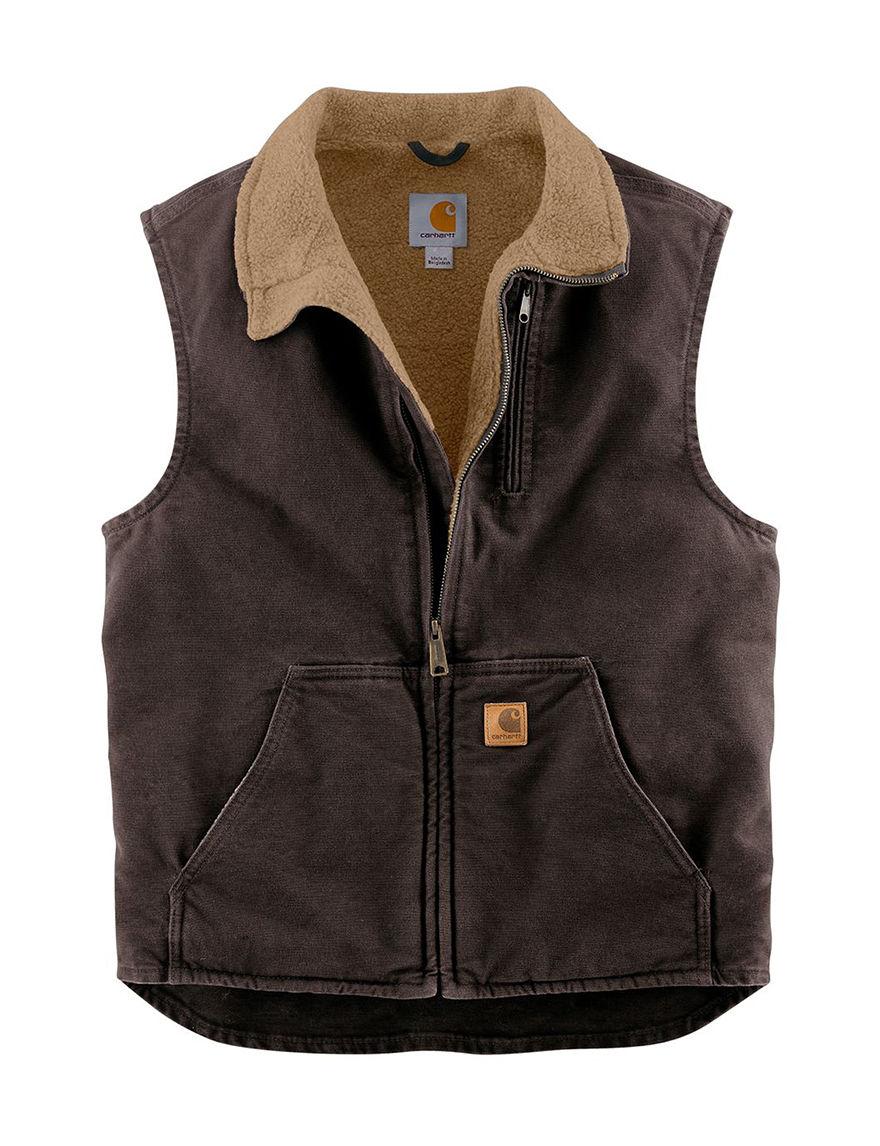 Carhartt Dark Brown Vests