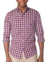 Chaps Men's Big & Tall Red, White & Blue Plaid Shirt