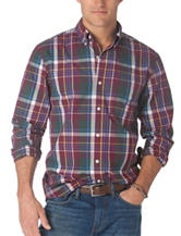 Chaps Men's Big & Tall Multicolored Madras Plaid Shirt