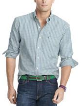 Izod Men's Big & Tall 2-Tone Tatersall Check Print Woven Shirt
