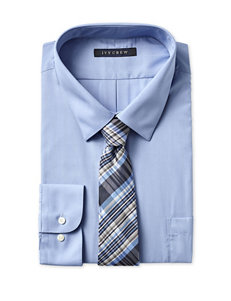 Ivy Crew Men's Big & Tall Easy Care Solid Color Box Dress Shirt