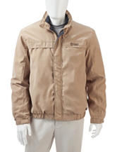Chaps Solid Color Microsuede Jacket