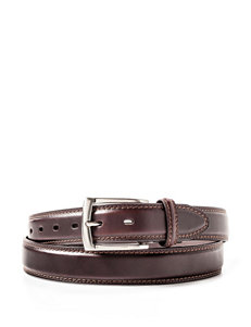 Dockers Men's Big & Tall Dark Brown Leather Belt