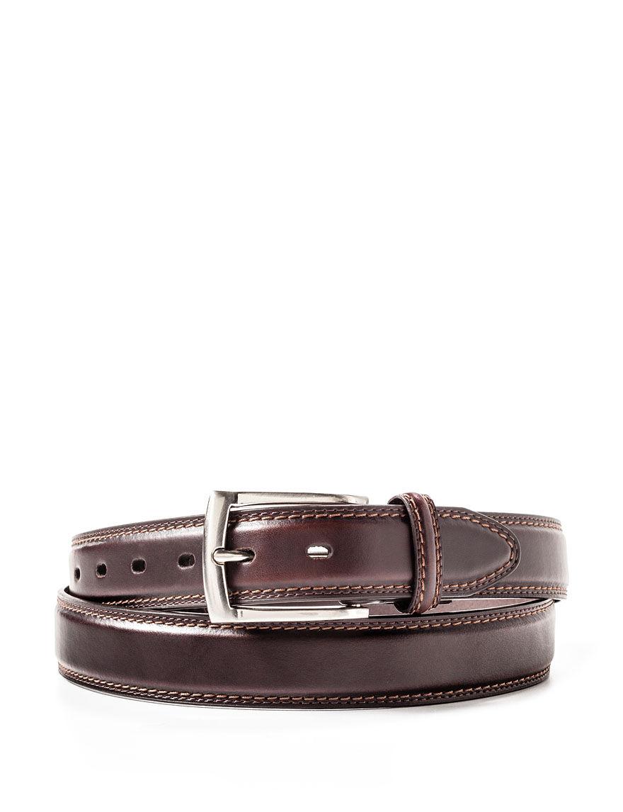dockers s big brown leather belt stage