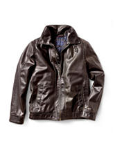 Tommy Hilfiger Aviator Faux Leather Jacket