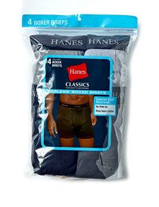 Hanes® Men's Big & Tall 4-pk. Tagless® Classic Boxer Briefs