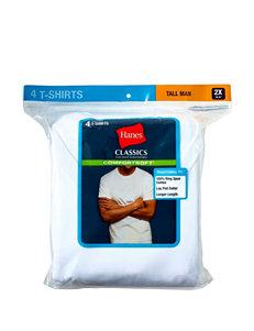 Hanes® Men's Big & Tall 4-pk. White Crewneck Tall Man T-shirts