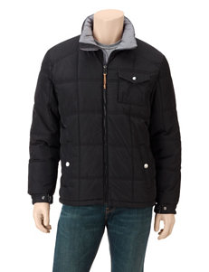 Izod Solid Color Quilted Puffer Jacket