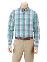 Dockers® Folded Multicolored Plaid Woven Shirt