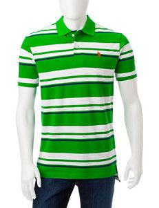 U.S. Polo Assn. Green Stripe Polos