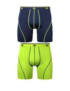 adidas 2-pk. Blue & Lime Sport Boxer Briefs
