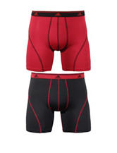 adidas® 2-pk. Red & Black Sport Boxer Briefs