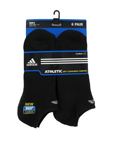 adidas 6-pk. No Show Black Socks