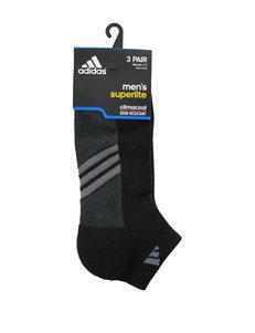 adidas 3-pk. Black Odor Resistant Low Cut Socks