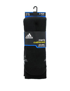adidas 3-pk. Black Crew Socks