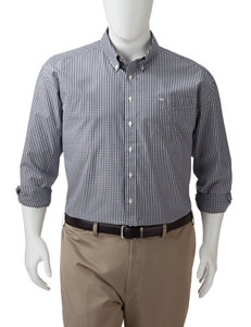 Dockers Blue Casual Button Down Shirts