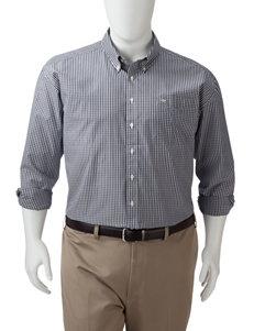 Dockers Men's Big & Tall Folded Small Plaid Tonal Woven Shirt