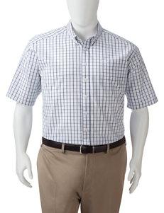 Dockers Men's Big & Tall Folded Windowpane Plaid Woven Shirt