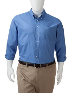 Dockers Men's Big & Tall Solid Color Folded Woven Shirt