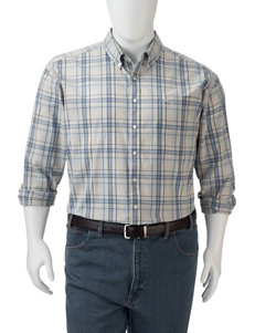Dockers Oatmeal Casual Button Down Shirts