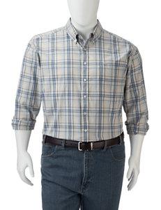 Dockers Men's Big & Tall Plaid Chambray Woven Shirt