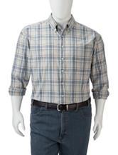 Dockers® Men's Big & Tall Plaid Chambray Woven Shirt