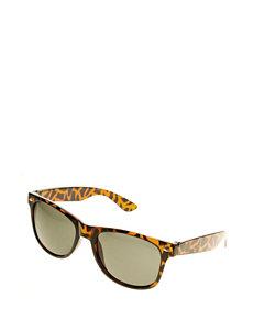 Riviera Men's Tortoise Print Retro Rectangle Sunglasses