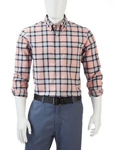 Dockers Red Plaid Casual Button Down Shirts