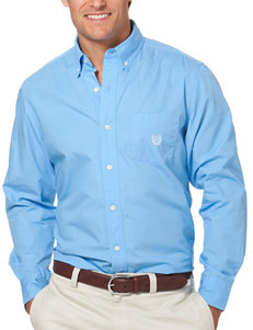 Chaps Light Blue Casual Button Down Shirts