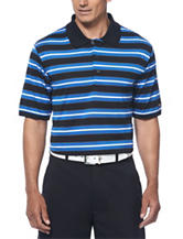 Jack Nicklaus Multicolored Striped Golf Performance Polo Shirt