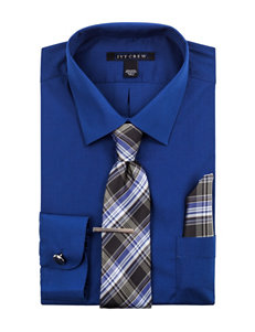 Ivy Crew 5-pc. Regular Fit Solid Color Dress Shirt Box Set