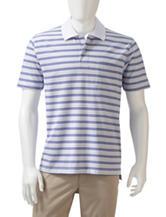 Sun River Orange Striped Polo Shirt