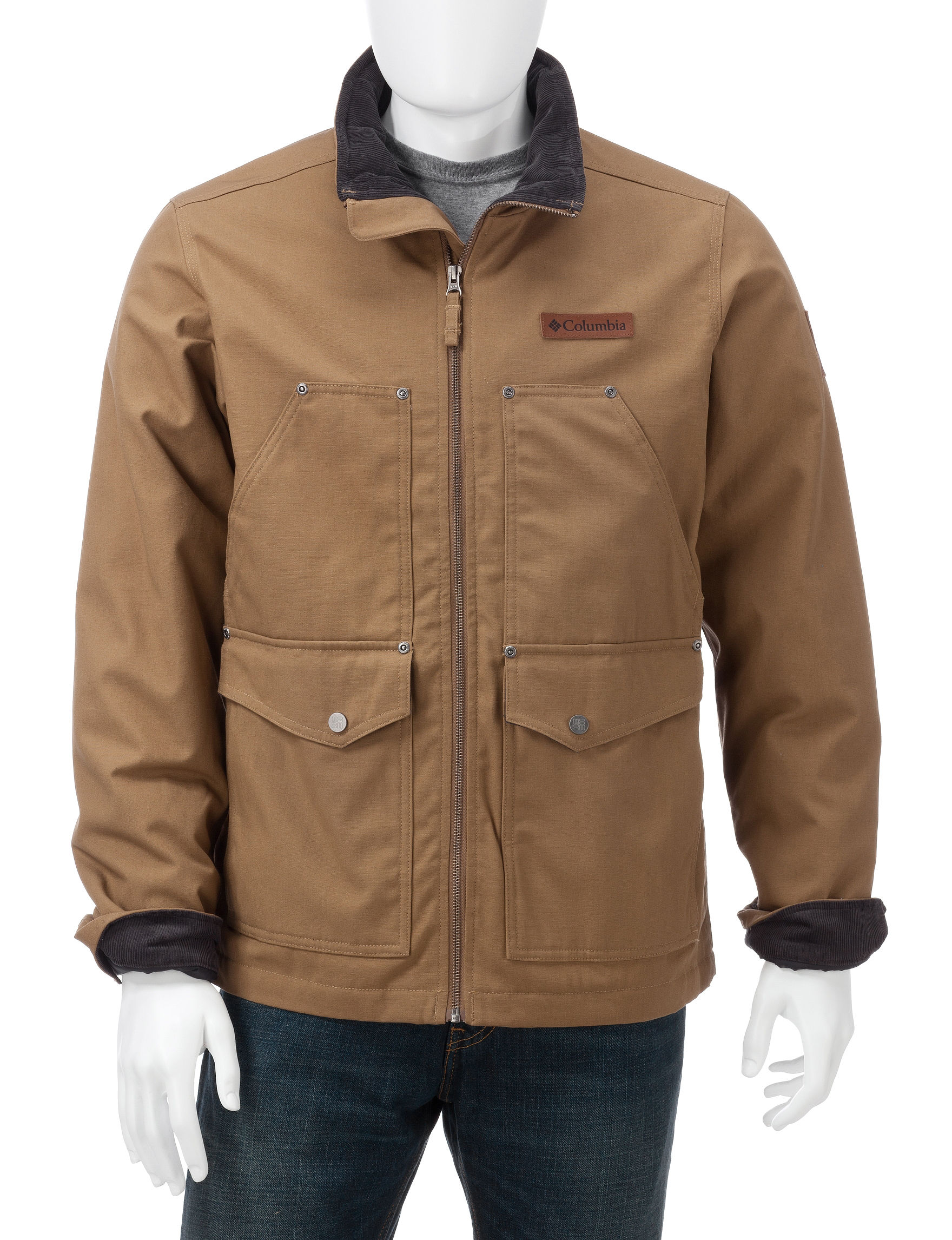 Columbia Beige Insulated Jackets