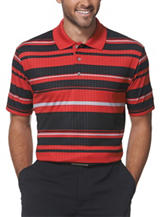 PGA Tour® Embossed Striped Golf Polo Shirt