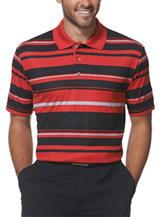 PGA Tour® Embossed Striped Golf Polo Shirt