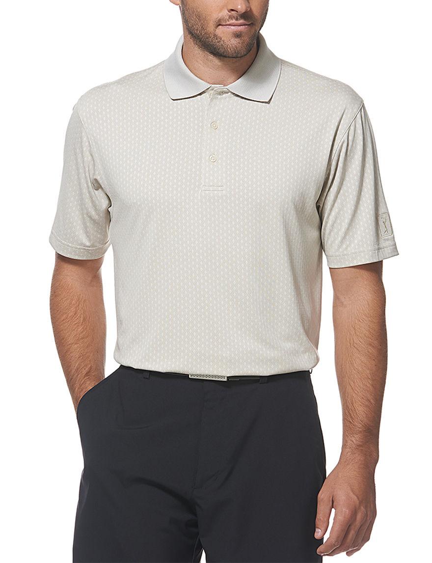 PGA TOUR Taupe Polos