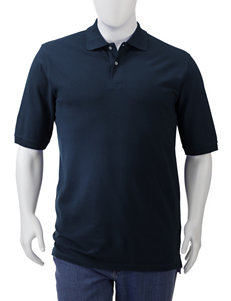 Sun River Men's Big & Tall Solid Color Piqué Polo Shirt