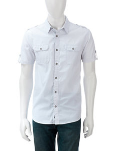 DKNY Jeans White & Grey Dash Shirt