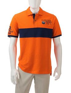 U.S. Polo Assn. Orange Polos