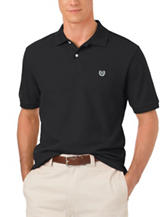 Chaps Black Knit Piqué Polo Shirt