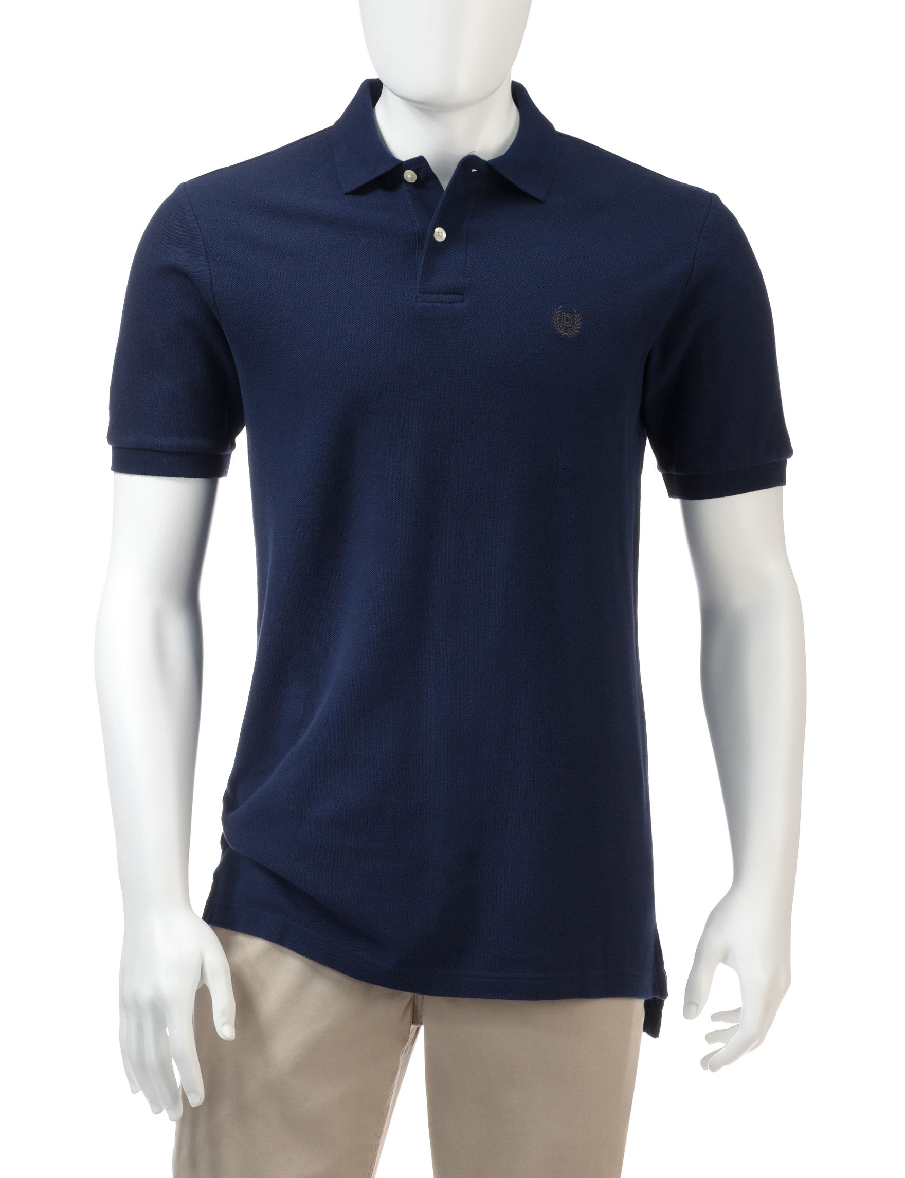 Chaps navy piqu polo shirt stage stores for Chaps shirts on sale