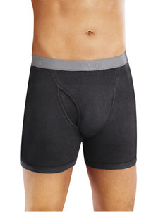 Fruit of the Loom Black / Grey Boxer Briefs