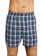 Fruit of the Loom 4-pk. Multicolored Plaid Print Boxer Briefs