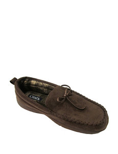 Chaps Microsuede Moccasin Slippers