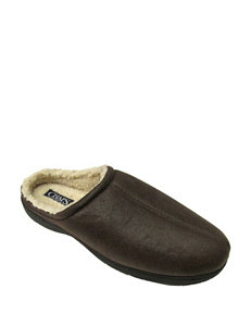 Chaps Brown Bomber Sherpa Clogs